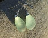 Light Green Seaglass Earrings