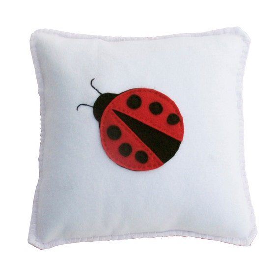 Cute Fleece Pillow : Items similar to Ladybug Pillow - Cute, Cuddly Soft Fleece for boy or girl, birthday gift or ...