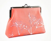 ON SALE - was 50 now 30 - Purse with Flower on coral