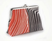 Tribal clutch with stripe