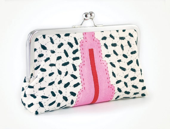 ON SALE Was 75 now 50 Hemp clutch with dots