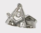 MASONIC MASON KNIGHT  ring soild sterling silver 925