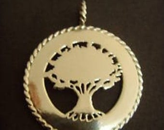 Art pendant Sterling Silver 925 Tree of Life