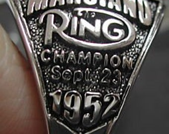 WORLD CHAMPIONSHIP ring boxing rocky marciano belt  us size  11solid sterling silver 925