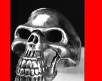KEITH Hell Rider Harley Skull Ring Sterling Silver 925