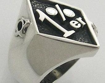 1ER  one percenter pack pack mc clod serling silver harley BIKER OUTLAW ring all size