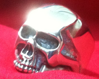 SKULL 925 ring all size  Hell Rider  Skull Ring Sterling Silver 925