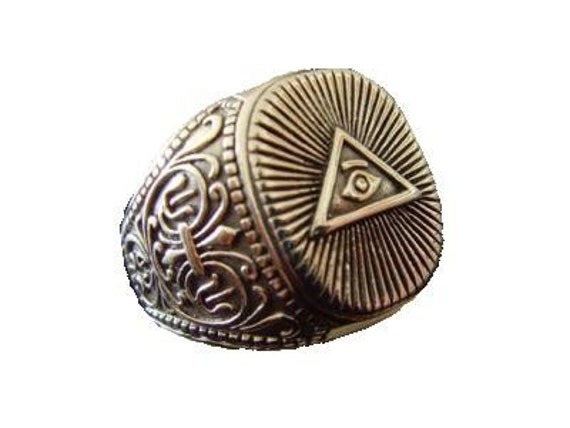 TREASURES OF TUTANKHAMUN all seeing eye freimaurer  Masonic   Historical ring