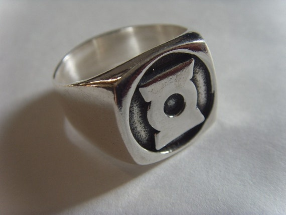green lantern solid sterling silver 925 ring all size