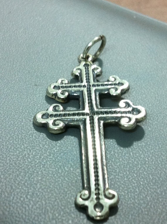 Cross Of Lorraine Magnum PI Team pendant  - Sterling Silver 925
