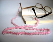 FREE Shipping Glasses Chain Pink Beaded Eye Wear Accessory  Fall Autumn Fashion