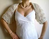 Ivory Wedding Jacket, Bridal Shrug, Cream Wrap