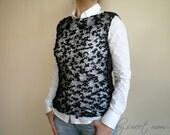 SALE % 25 off Black Sweater, Women Top Tank