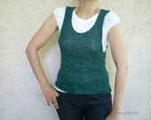 Dark Green Sweater Knitted Vest Free Shipping Etsy