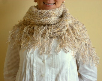 SALE %25 off Women Shawl in Blended Beige Brown