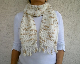 SALE % 25 off Wool Scarf  in Beige Brown
