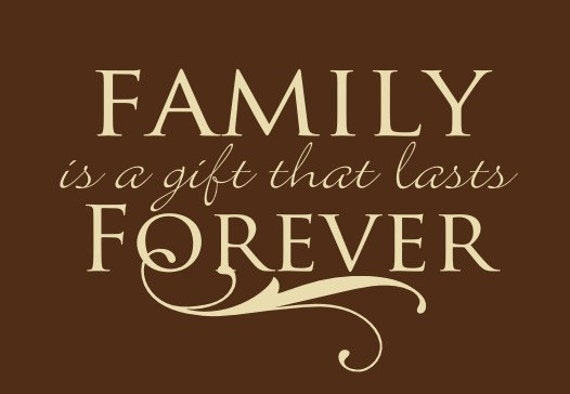 items similar to family is a gift that lasts forever family sign wall decal sticker vinyl. Black Bedroom Furniture Sets. Home Design Ideas