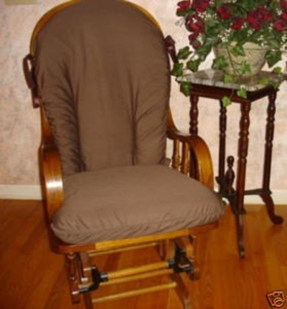 Chocolate Brown Glider Rocker Rocking Chair Slip Cover
