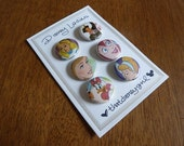 Mary Poppins, Sleeping Beauty, and Friends - Disney Button Pins