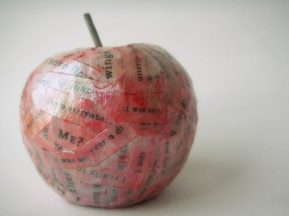 Items Similar To Paper Mache Apple On Etsy