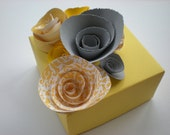 Spring Garden Yellow and Gray Gift Box - Birthday - Bridal Shower - Baby Shower
