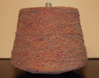 SALE WAS 18.95. Copper Italian  Rayon Chenille Yarn with specs of green, red, rust, yellow and  purple