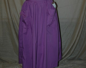 Sale was 18.95. French Purple Spring and Summer Skirt.  Designers Den vintage overstock never worn.  FREE domestic shipping.