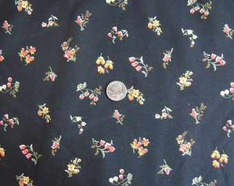 SALE was 5.95.  Sweet Floral Black Fabric Yardage.