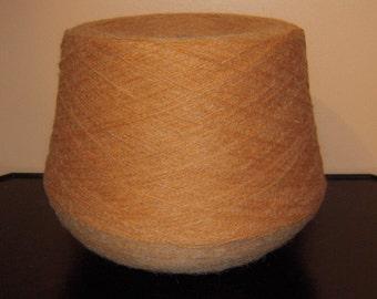 SALE WAS 19.95. Italian  Wool Blend Yarn.  Light Rust.  2 pounds 1 ounce.