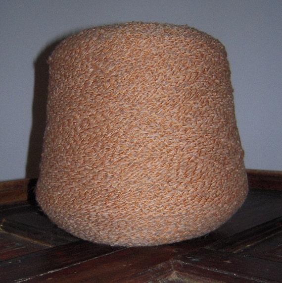 SALE WAS 19.95. Italian Wool Blend Yarn. Rust and Tan.