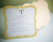 DieCut Wedding Menu Card