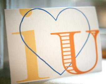 notecards - i heart u notes
