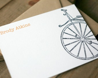 Personalized Stationery - Cycle Correspondence Cards