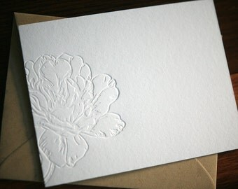 Letterpress Stationery - Blossom Letterpress Notecards