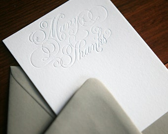 Letterpress Stationery - Calligraphy Thank You Notes