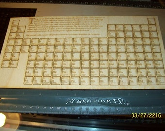 Complete Periodic Table of Elements 118 pieces total 1/2 inch size pieces