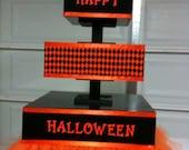 3 tiered personalized tutu cupcake stand
