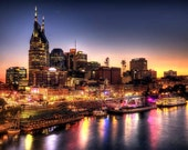 Nashville Skyline at Night - 6x9 Fine Art Print