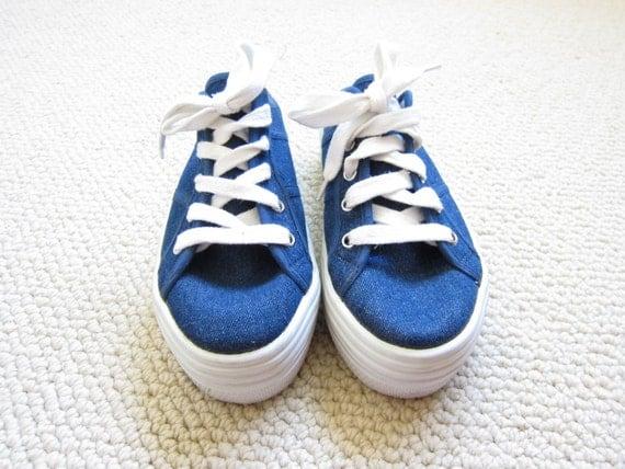 Steve Madden Denim Slip-on Platform Sneakers .