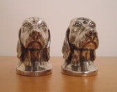 Vintage Dog Salt and Pepper Shakers Viking Canada on Etsy