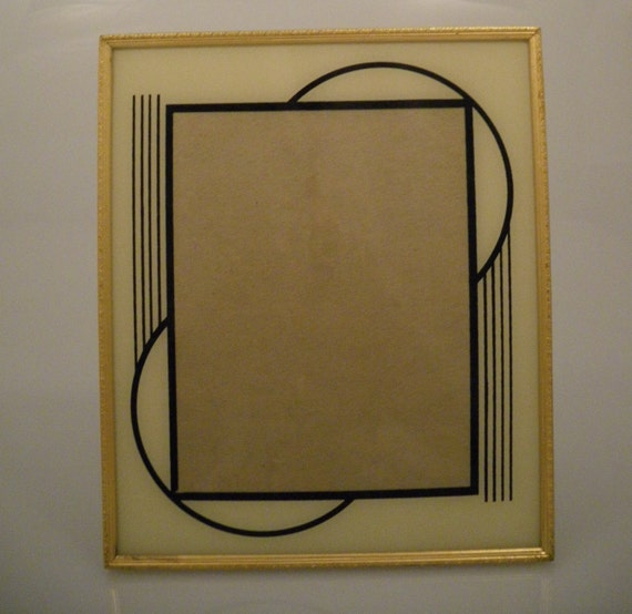Vintage Picture Frame Art Deco Metal Glass Sale