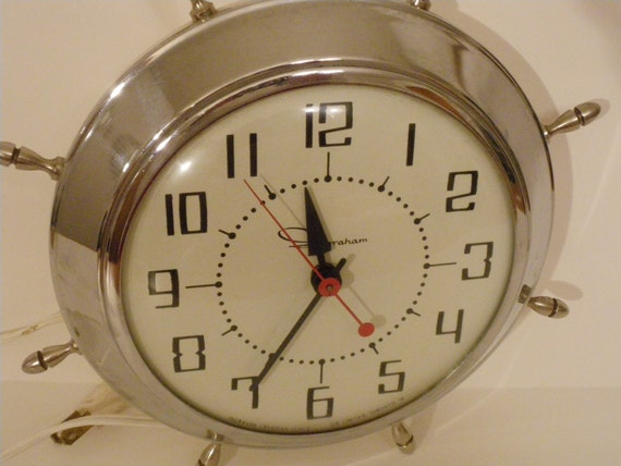 V i n t a g e Wall Clock Nautical Style Ingraham Toronto Canada