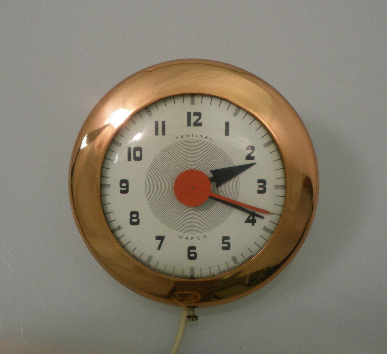 Vintage Sentinel Wafer Wall Clock Art Deco