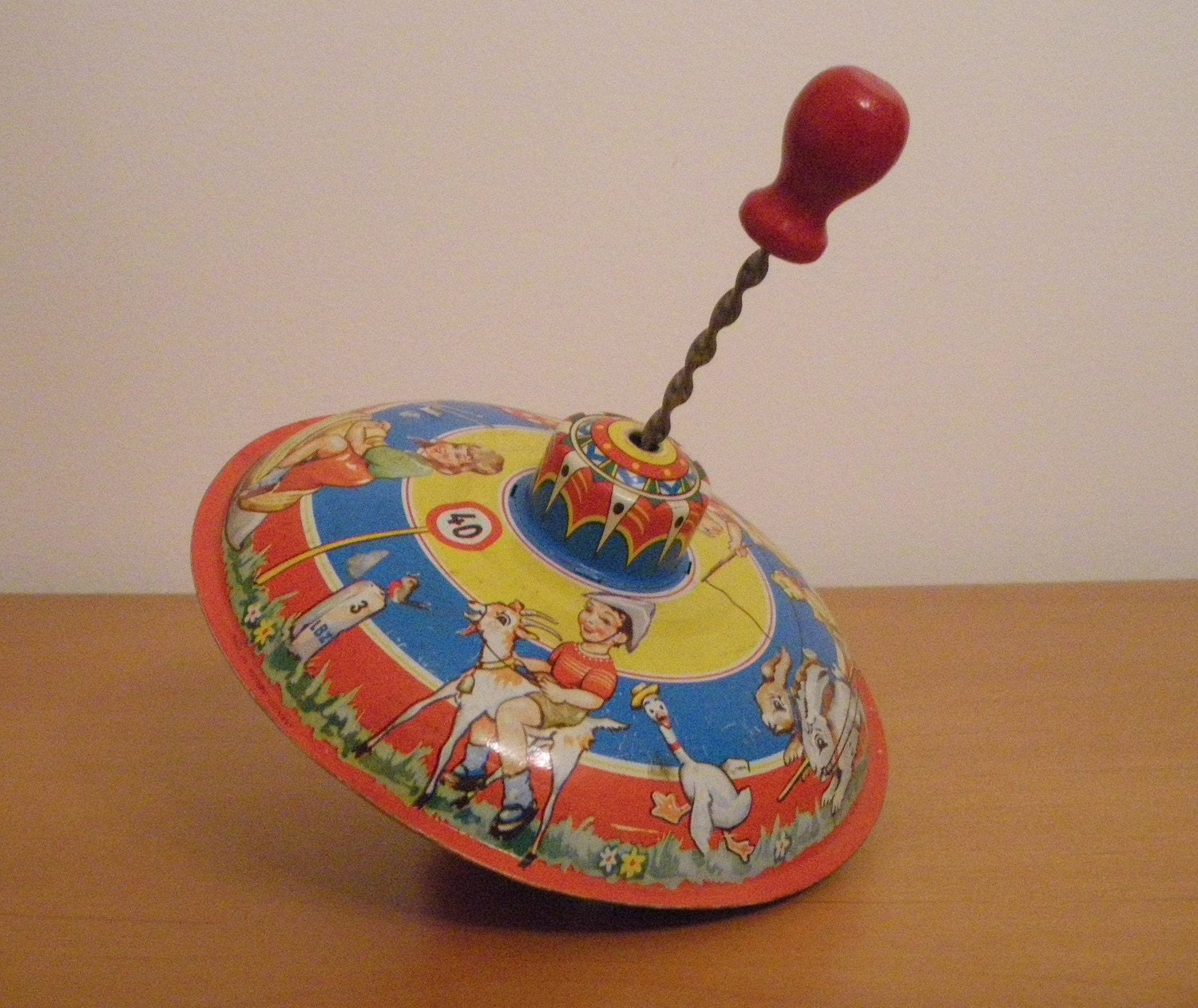 Toy Spinning Top : Vintage toy spinning top antique western germany
