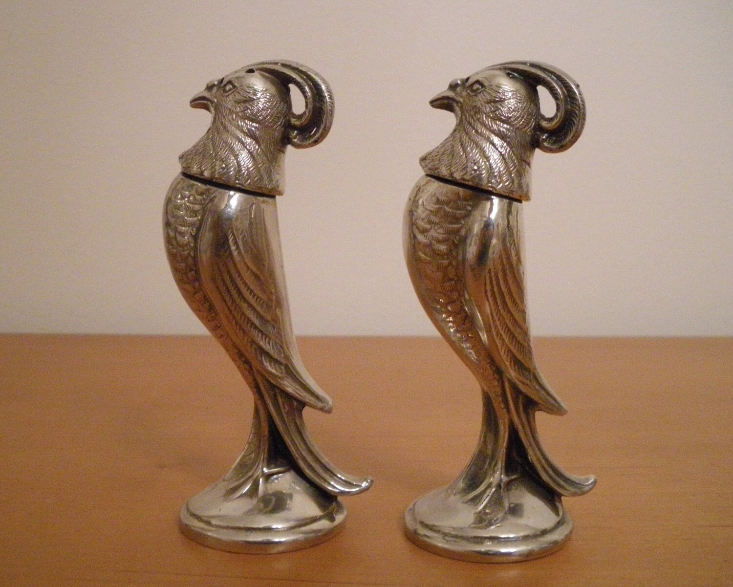 Vintage Bird Salt And Pepper Shakers Silver Viking Canada On
