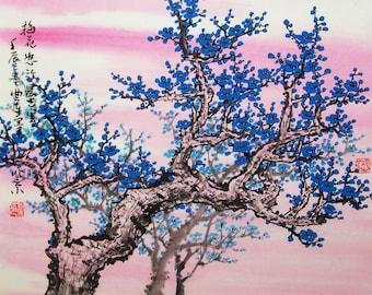 Original Art work chinese painting -Lovely cherry blossom tree No.5