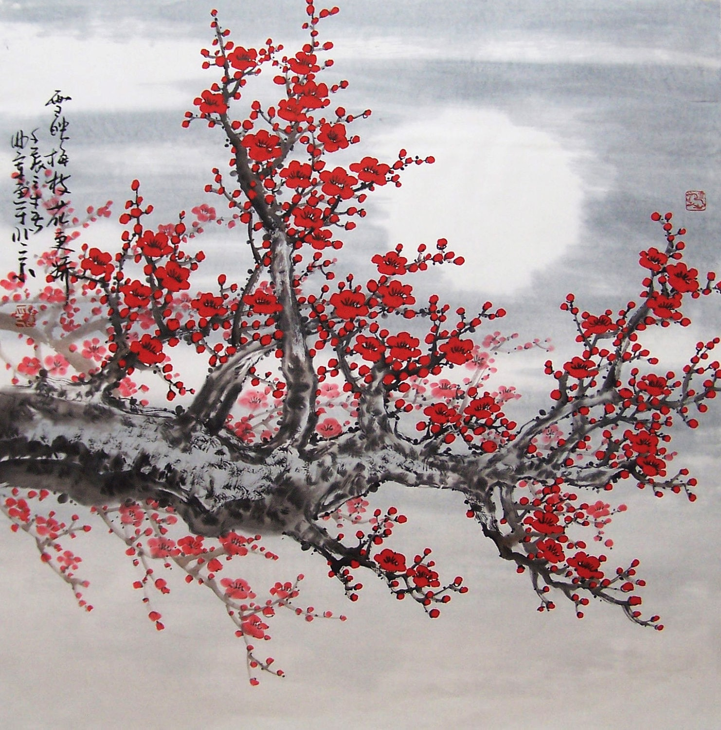 Cherry Blossom paintings flower painting floral painting