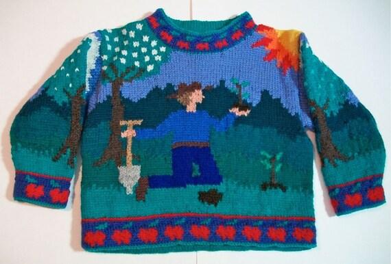 Three Year Johnny Appleseed Sweater