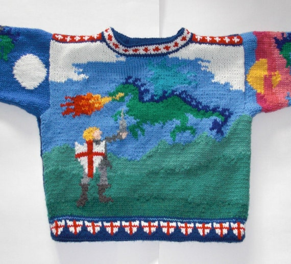 Four Year Saint George and the Dragon Sweater
