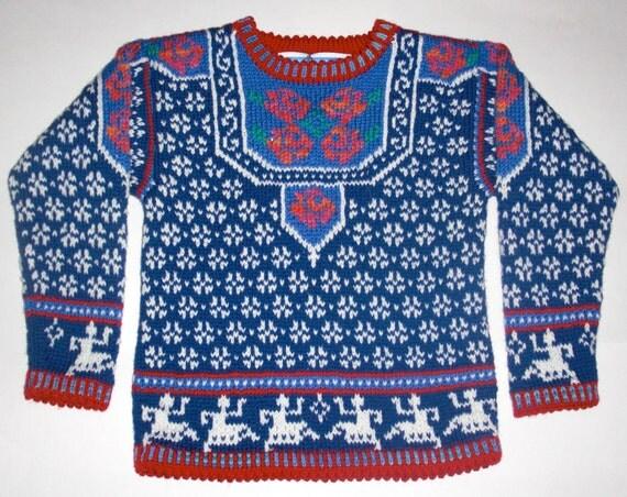 Five/Six Year Norwegian Roses Sweater